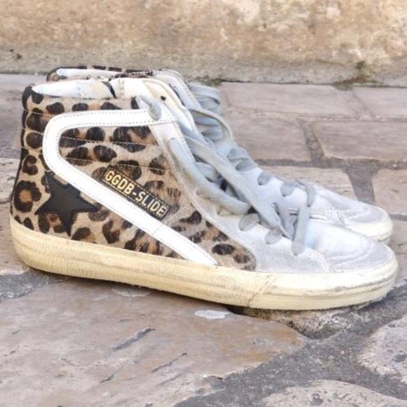 004ad413d802 Golden Goose Shoes - NEW Rare Golden Goose GGDB Snow Leopard Slide 39/9